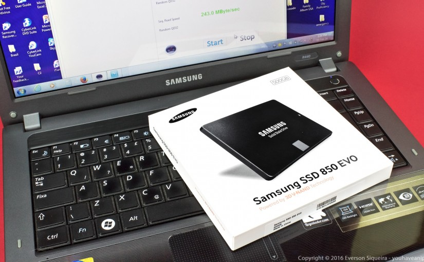 SSD upgrade on old Laptop PC – Samsung 850 EVO 500GB SSD: migration, installation and speed test